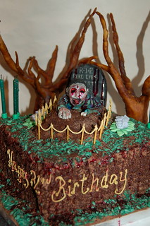 Wondrous My Zombie Birthday Cake Made By The Very Talented Laura Fr Flickr Personalised Birthday Cards Veneteletsinfo
