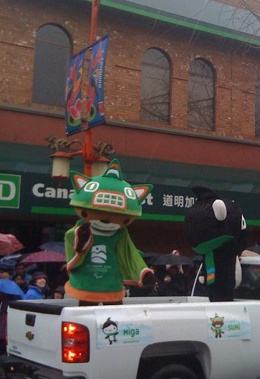 Olympic Mascots at the 2009 Chinese New Year Parade in Vancouver