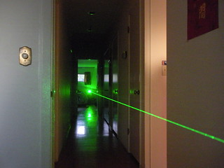 """Wicked Lasers """"Spyder I Pro"""" laser - indoor beam shot #1   by Danny / ixfd64"""