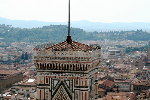 View of Il Campanile di Giotto (Giotto's Bell tower) and Florence from Florence's Baptistry -  Piazza del Duomo, Florence | by Glen Bowman