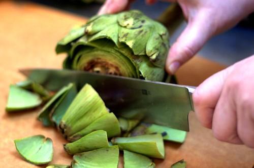 step 1: trim the top   by smitten kitchen