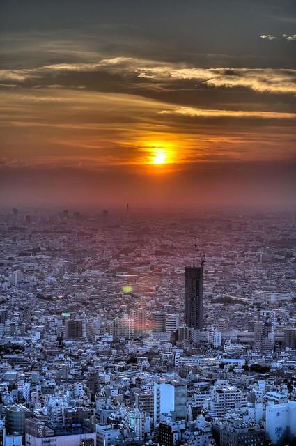 Sunset on the Deserted City
