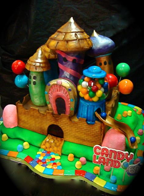 candy land  60th birthday cake