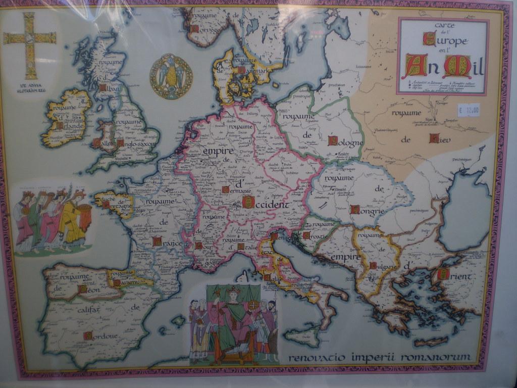 Map Of Medieval Europe Karta Na Srednovekovna Evropa Flickr