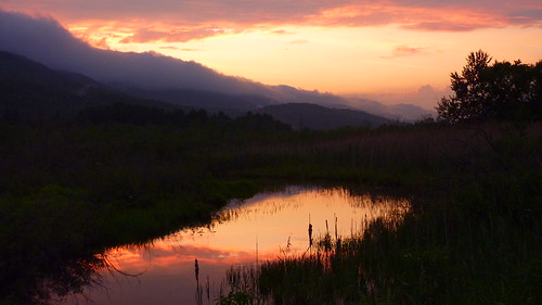 sunset vermont cloudy marsh vt westrutland