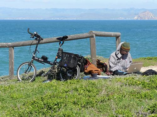Bike Traveler With Folding Solar Panel | by docentjoyce