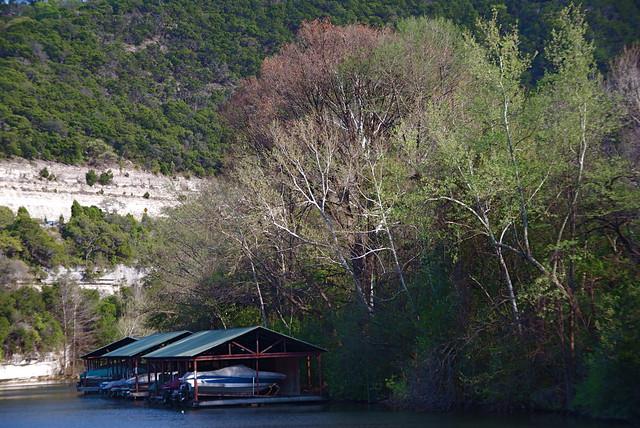 Boathouse on Lake Austin