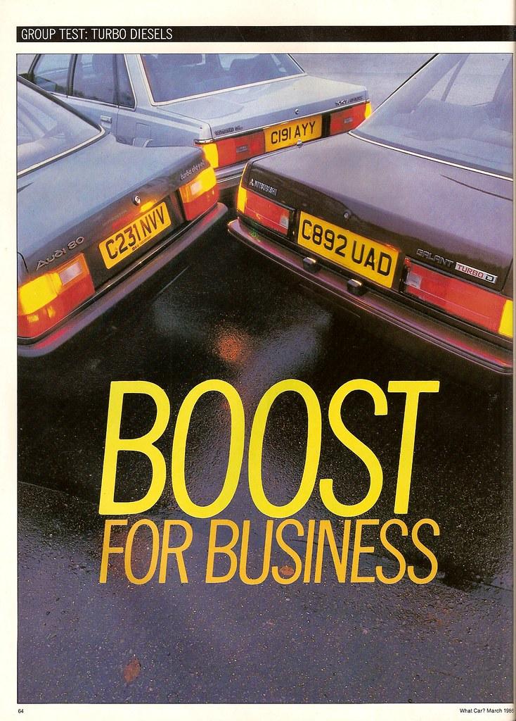 Turbo Diesel Group Test Audi 80 Mitsubishi Galant Toyota Camry 1986 (1)
