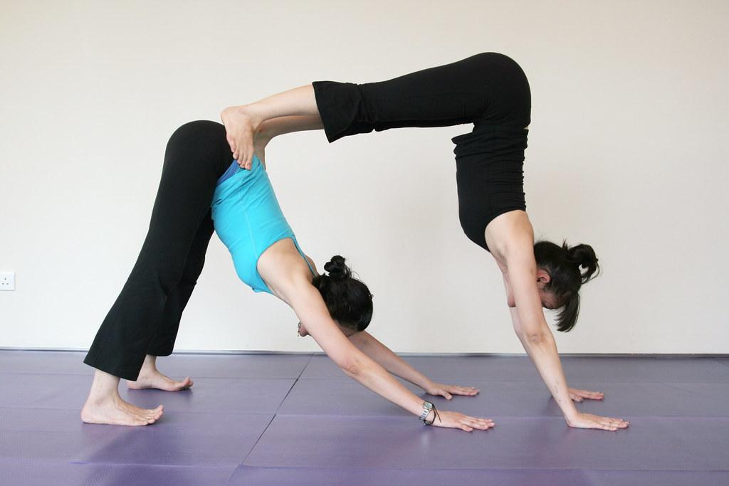 Partner Yoga Double Downward Dog Yy Flickr
