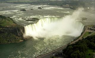 Niagara Horshoe Falls from the Skylon Tower 1981