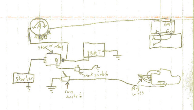 electrical diagram of our 1940 farmall h | My crude drawing ... on