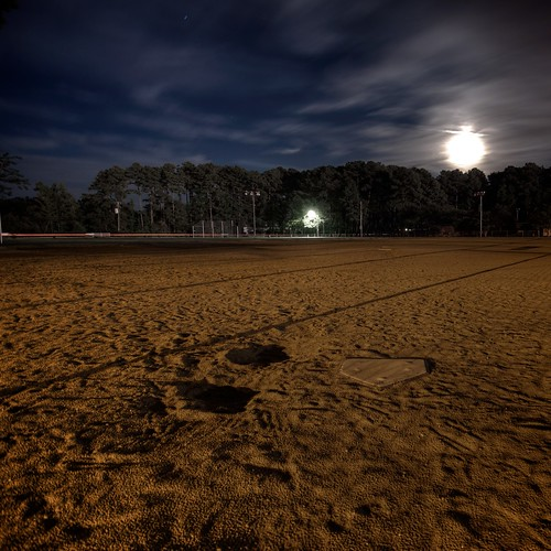 sky moon night clouds lights virginia nikon baseball sigma dirt va softball 1020 hdr squarecrop poquoson d90 project365 tonemapped desserted