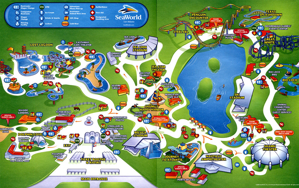 Seaworld San Antonio Map Sea World San Antonio Map | Plan your trip, buy your tickets… | Flickr
