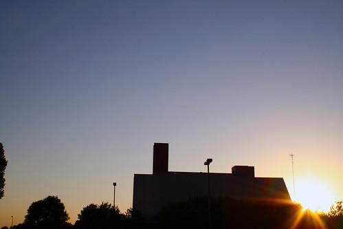 Bible Building at Sunset