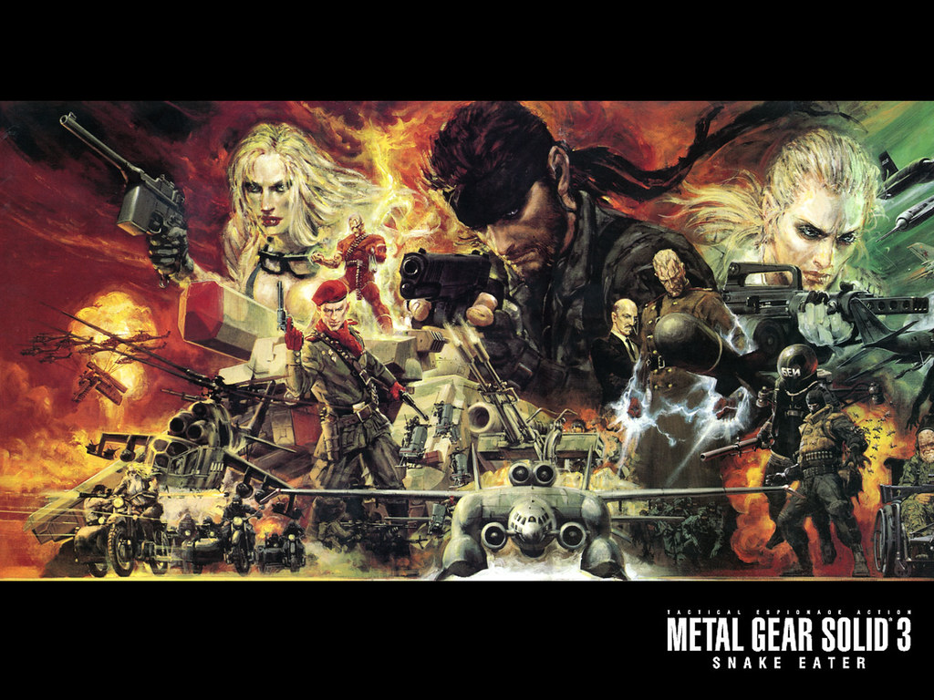 Mgs3 Snake Eater Main Artwork Of Metal Gear Solid 3 Sna