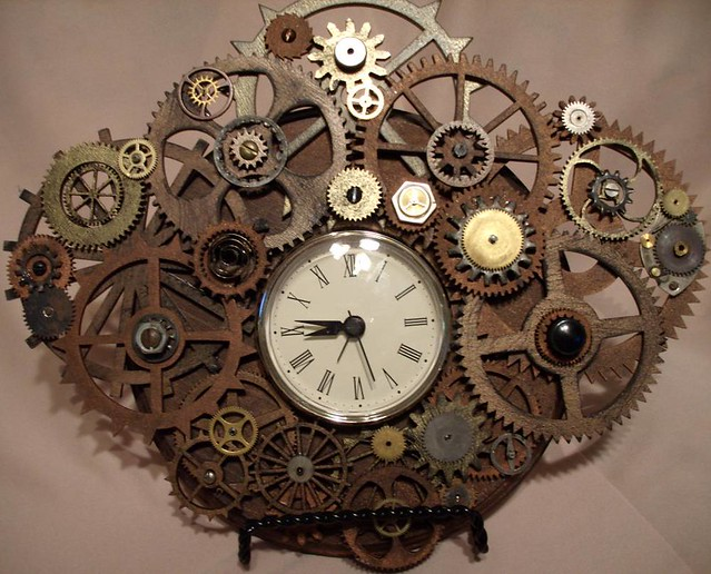 Steampunk Clock By Erin Keck Ekcreationsetsycom Flickr