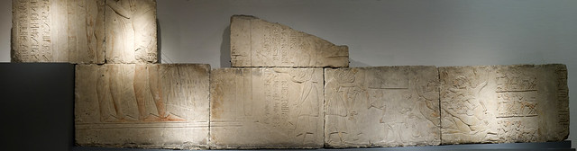 Large panorama Horemheb relief (RMO Leiden,  upper part, Sakkara grave Horemheb southern wall 18d 1325 bc)