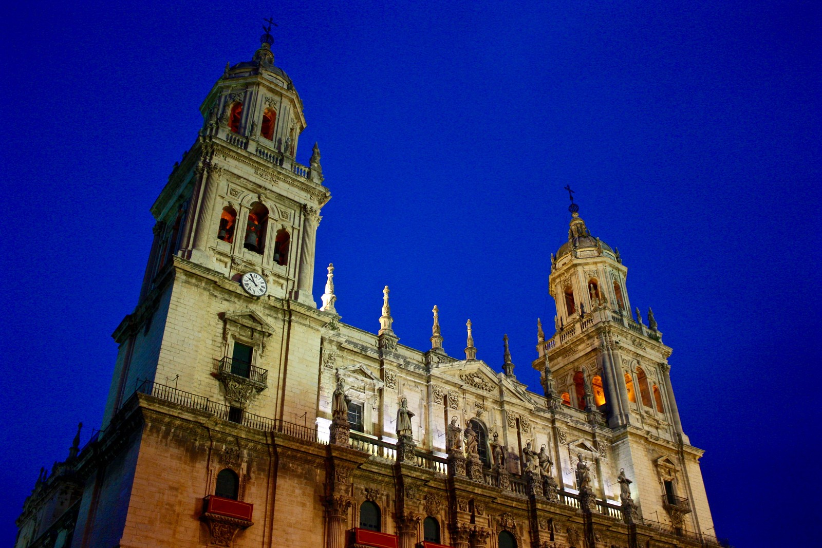 Jaén cathedral at the blue hour, Spain