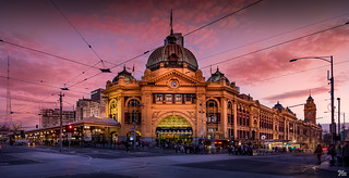 Flinders Street Station Sunset | by mark.iommi