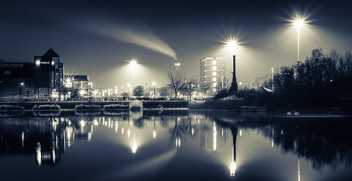 Surrey Quays by night | by Mr Moss
