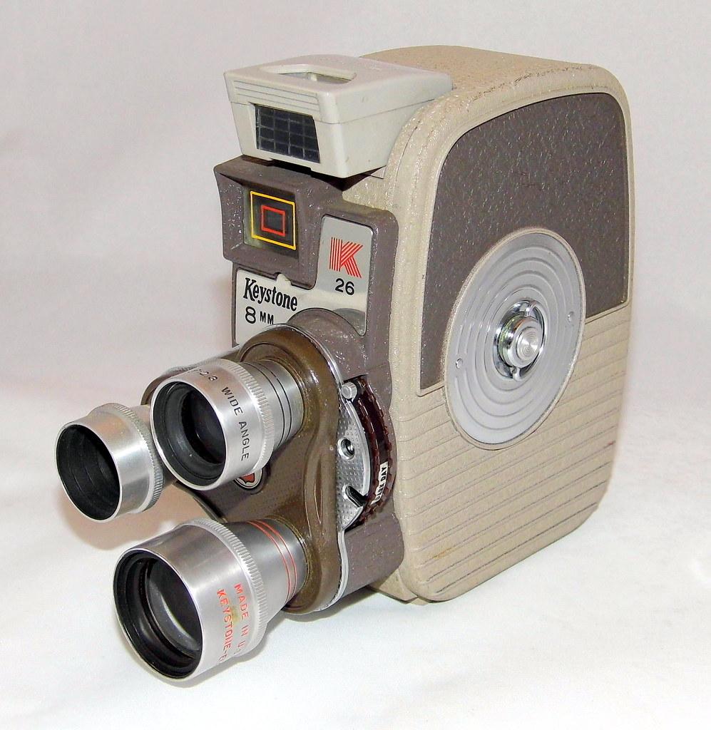 Vintage Keystone 8mm Home Movie Camera, Model K-26 Triple
