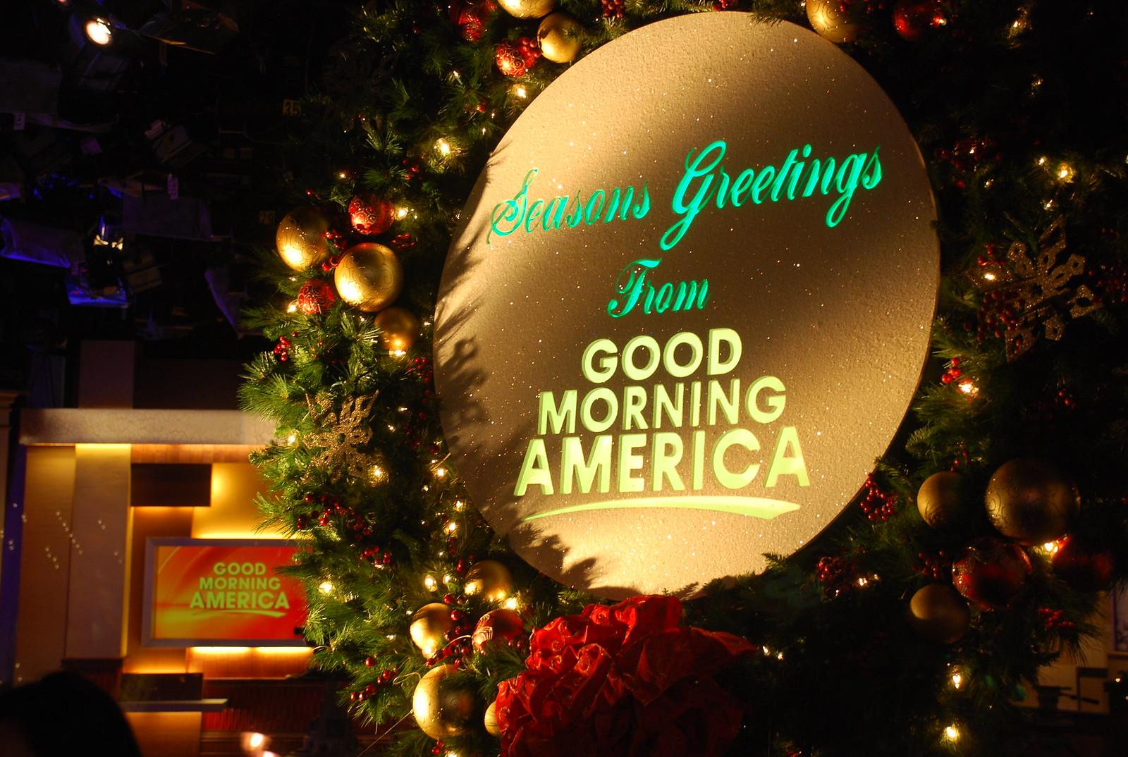 Seasons Greeting from Good Morning America
