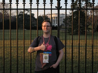Me at the WH   by codingdesigner