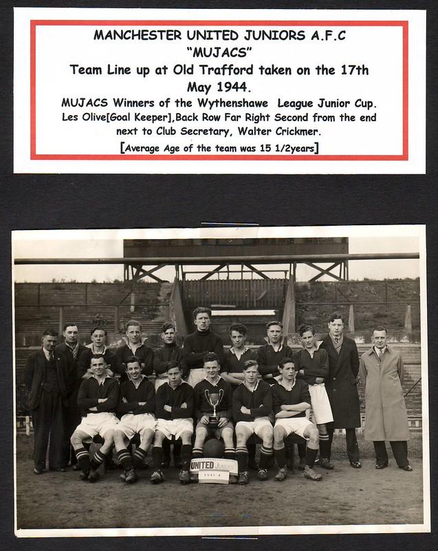 Manchester United Juniors[MUJAC][1944. An Original Private Photo]