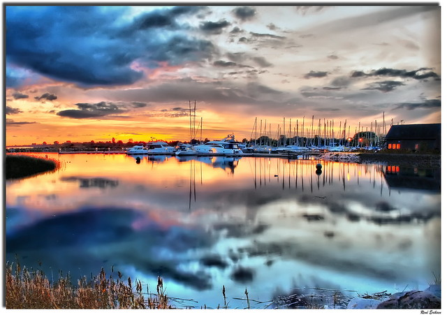 Sunset Hundige marina