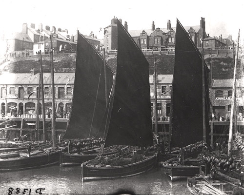 033089:Herring boats Fish Quay North Shields Unknown c.1890 | by Newcastle Libraries