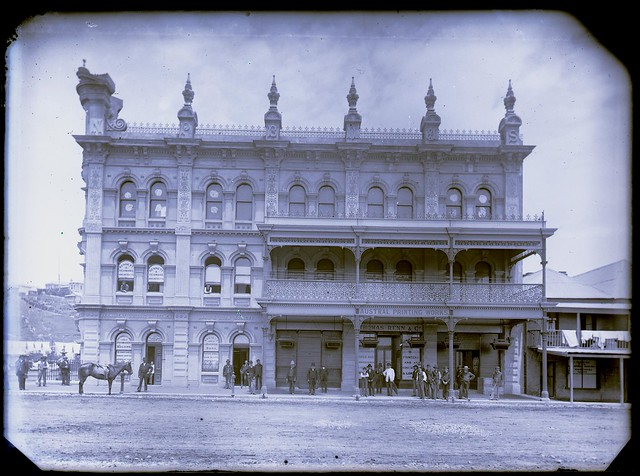 Northumberland Permanent Building and Investment Land and Loan Society Building, Blane (now Hunter) & Burwood Streets, Newcastle, NSW, 1887