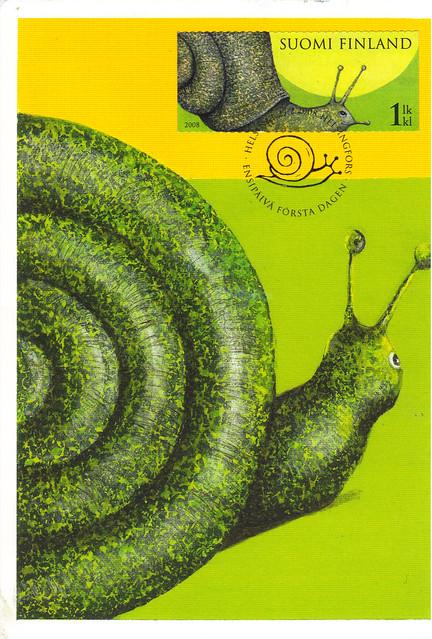 Finland Snail Maxi Postcard