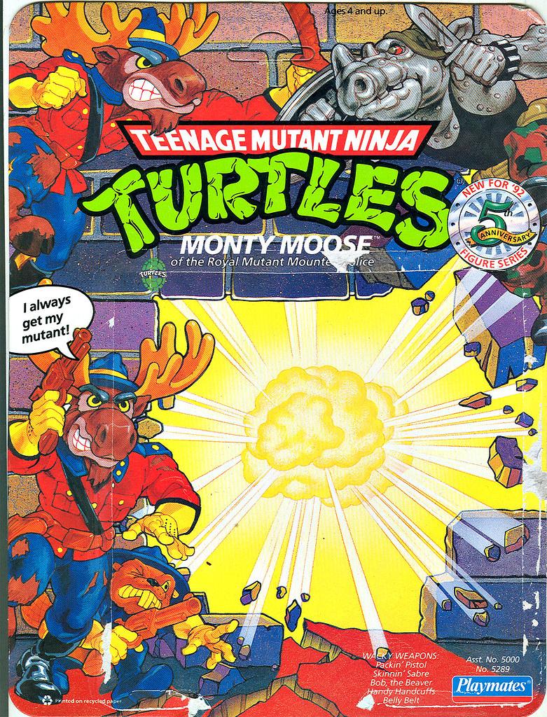 TEENAGE MUTANT NINJA TURTLES :: MONTY MOOSE ..card backer i (( 1992 )) by tOkKa