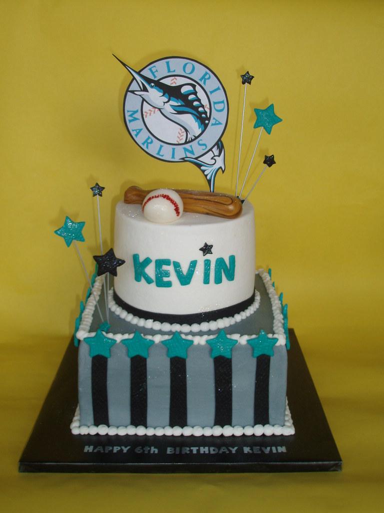 Florida Marlins Baseball Birthday Cake | Kevin loves the Mar… | Flickr