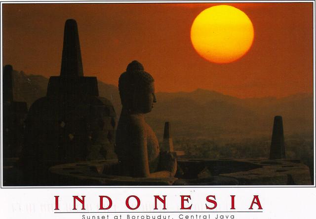 UNESCO Buddhist Temple Indonesia Postcard