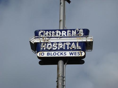 Children's Hospital, 10 blocks west   by Eric Fischer