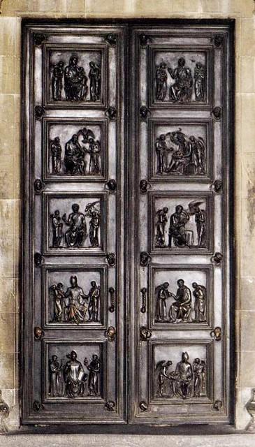 ROBBIA, Luca della North Sacristy Doors 1446-75 Bronze, 420 x 200 cm Duomo, Florence