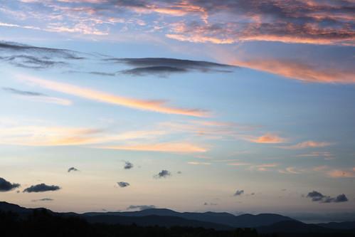 sunset sky mountains clouds virginia roadtrip blueridgemountains project365 virginiaroadtrip2009