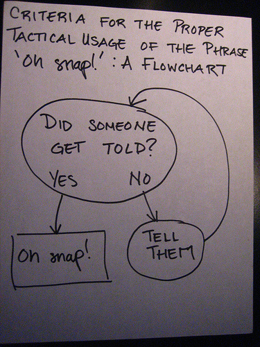 oh snap! (a flow chart)