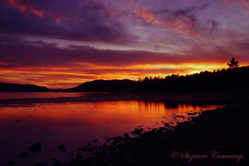 sunset sky lake mountains clouds nikon d80 bigbearlakecalifornia sailsevenseas coppercloudsilvernsun