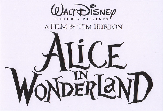Disney/Burton Alice In Wonderland Postcard
