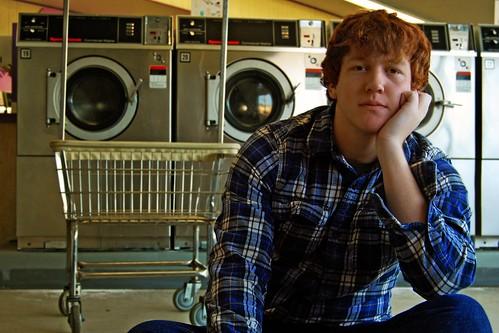 city blue light red david window hair mac waiting basket time bored machine row clothes clean wash laundry plaid laundromat redhair dryer launromat yuba washmachine laundrytime