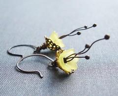 Little yellow flowers earrings | by zsbekefi