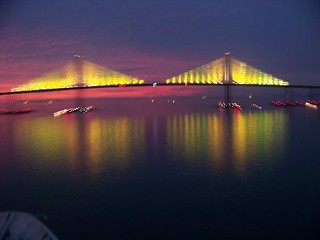 Skyway Bridge at night - 1/3/09 | by kthypryn