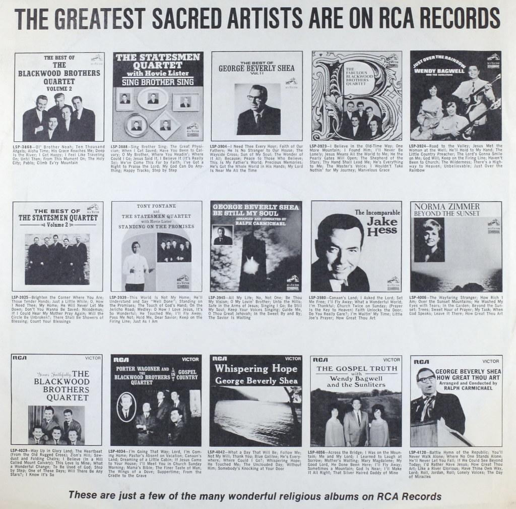 Sacred Artists on RCA | Sacred Artists on RCA | Flickr
