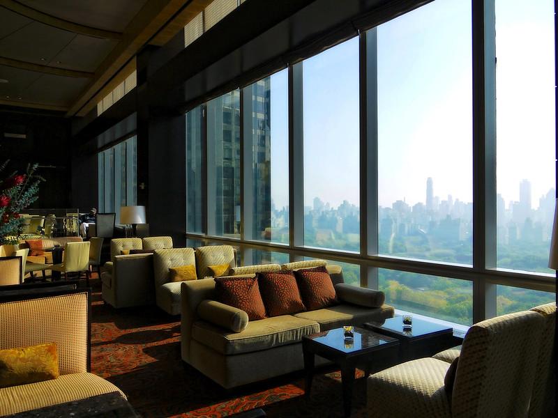 Mandarin Oriental hotel lounge and bar facing northeast