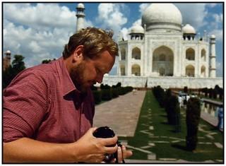 Me, at the Taj.