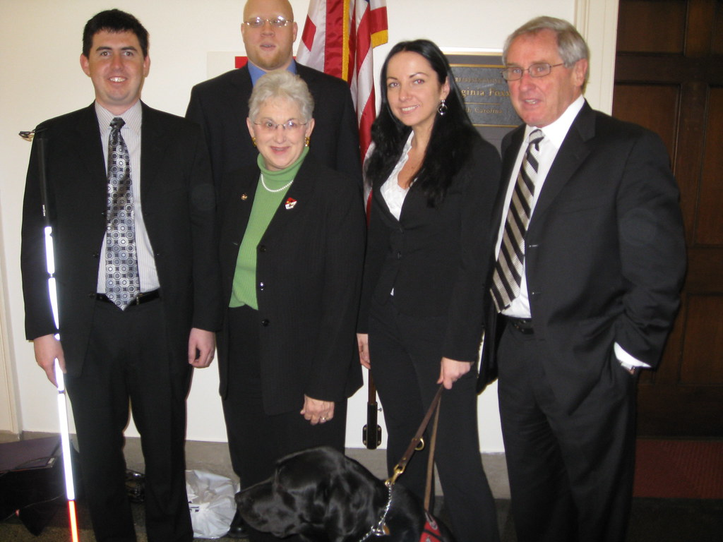 Foxx Meets With Winston Salem Industries For The Blind