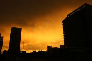 sunset in Yokohama waterfront | by shoma