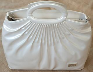 Patent Leather handbag - White